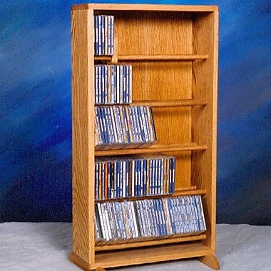 Wood Shed 500 Series 210 CD Dowel Multimedia Storage Rack; Clear