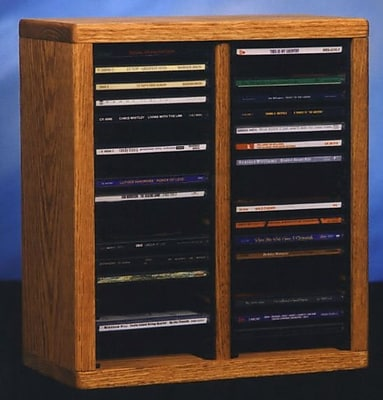 Wood Shed 200 Series 40 CD Multimedia Tabletop Storage Rack; Natural