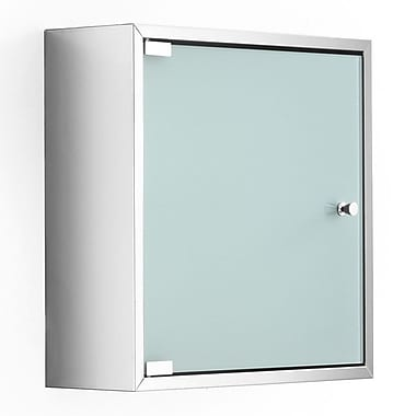 WS Bath Collections Linea Pika 15.7'' x 15.7'' Surface Mount Medicine Cabinet; Frosted
