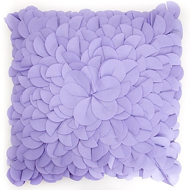 Debage Inc. Blooming Bud Throw Pillow; Lavender