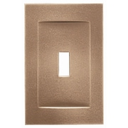 RQ Home Single Toggle Magnetic Wall Plate; Classic Bronze