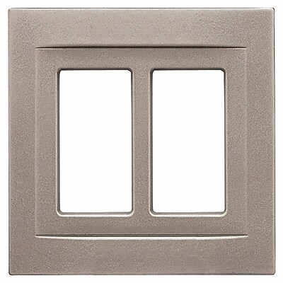RQ Home Double GFCI Magnetic Wall Plate; Brushed Nickel