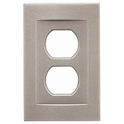 RQ Home Single Duplex Magnetic Wall Plate; Brushed Nickel