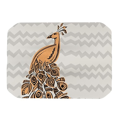 KESS InHouse Peacock Placemat; Yellow