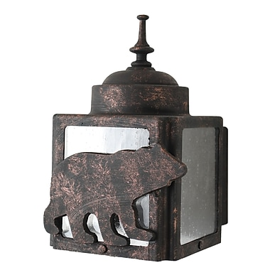 Melissa Americana 1-Light Outdoor Flush Mount; Patina Bronze