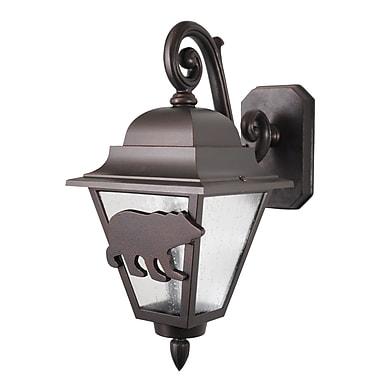 Melissa Americana 1-Light Outdoor Wall Lantern; Black