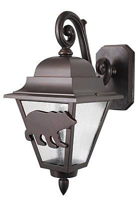 Melissa Americana 1-Light Outdoor Wall Lantern; Old Copper