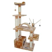 Kitty Mansions 60'' Charlotte Cat Tree; Beige