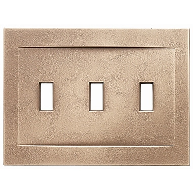 RQ Home Triple Toggle Magnetic Wall Plate; Classic Bronze