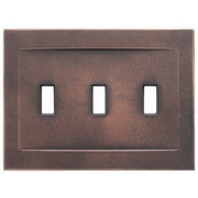 RQ Home Triple Toggle Magnetic Wall Plate; Oil Rubbed Bronze