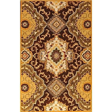MOTI Rugs Patra Brown/Tan Area Rug; Square 1'6''