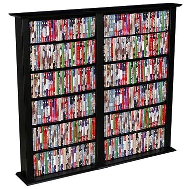 Venture Horizon VHZ Entertainment Regular Double Multimedia Storage Rack; Black