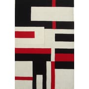 Acura Rugs Modern Cool Red/White Area Rug; 8' x 11'