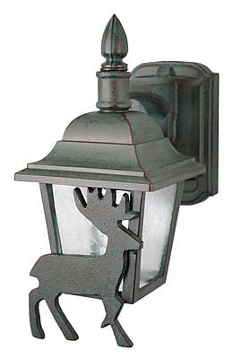 Melissa Americana 1-Light Outdoor Wall Lantern; Old Bronze