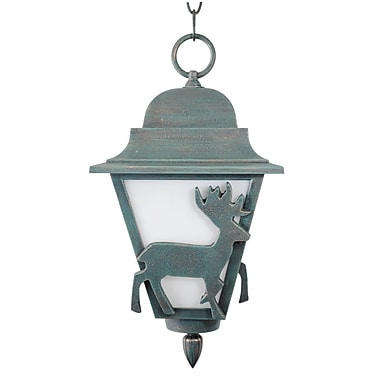 Melissa Americana 1-Light Outdoor Hanging Lantern; Aged Silver
