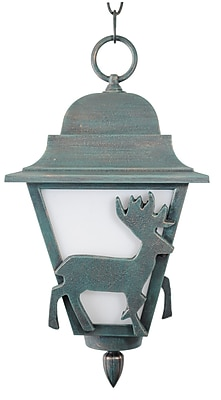 Melissa Americana 1-Light Outdoor Hanging Lantern; Old Iron