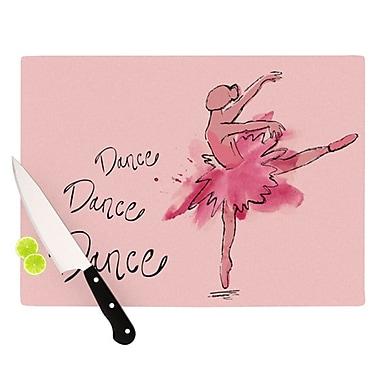 KESS InHouse Ballerina Cutting Board; 11.5'' H x 8.25'' W x 0.25'' D
