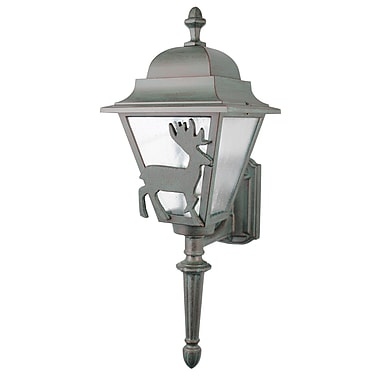 Melissa Americana 1-Light Outdoor Sconce; Patina Bronze