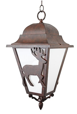 Melissa Americana 3-Light Outdoor Hanging Lantern; Old Bronze