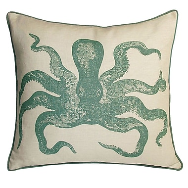 Kevin O'Brien Studio Nauticals Cuttlefish Throw Pillow; South Pacific
