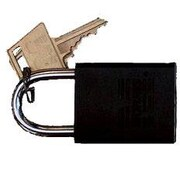 Morris Products Hardened Steel Different Keyed Padlocks; Black