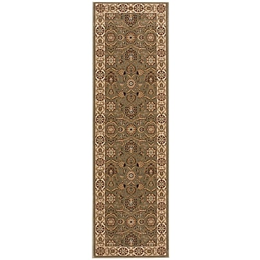 Nourison Persian Crown Green/Brown Area Rug; Runner 2'2'' x 7'6''