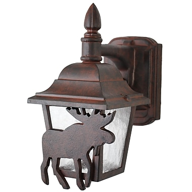 Melissa Americana 1-Light Outdoor Wall Lantern; Patina Bronze