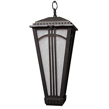 Melissa Parisian Elegance 1-Light Outdoor Hanging Lantern; Old Bronze
