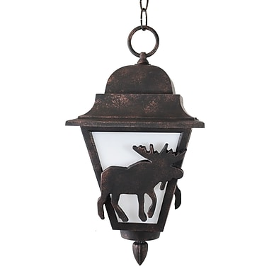 Melissa Americana 1-Light Outdoor Pendant; Old Iron