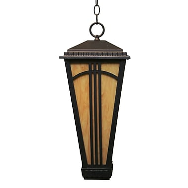 Melissa Parisian Elegance 1-Light Outdoor Hanging Lantern; Aged Silver