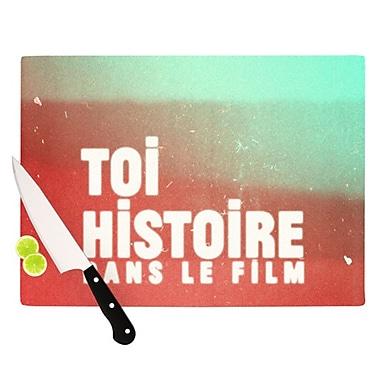 KESS InHouse Toi Histoire Cutting Board; 11.5'' H x 15.75'' W x 0.15'' D