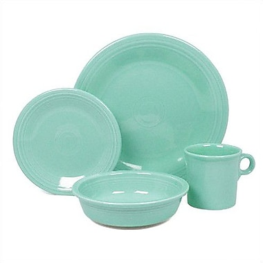 Fiesta 4 Piece Place Setting Set, Service for 1; Turquoise