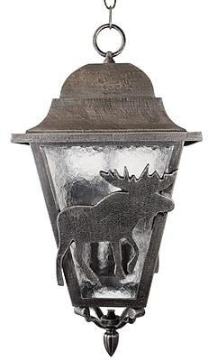 Melissa Americana 3-Light Outdoor Hanging Lantern; Old Copper