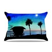 KESS InHouse Carlsbad State Beach Pillowcase; Standard