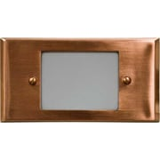 Dabmar Lighting 1-Light Step Light; Copper
