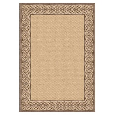 Dynamic Rugs Piazza Talcot Natural/Brown Indoor/Outdoor Area Rug; Rectangle 5'3'' x 7'7''