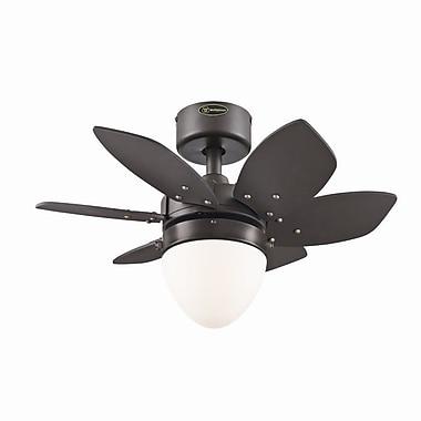Westinghouse Lighting 24'' Origami 6-Blade Fan; Espresso with Espresso/Applewood Blades