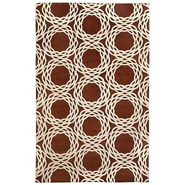 Capel Cococozy Copper/Cream Oriental Area Rug; 5' x 8'