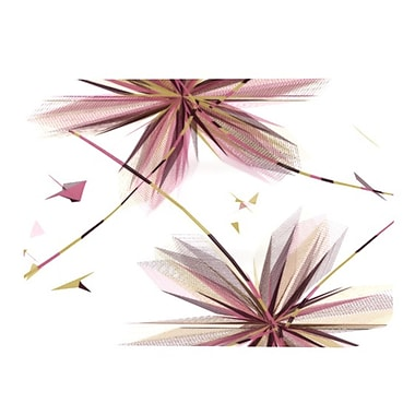 KESS InHouse Flower Placemat; Aubergine