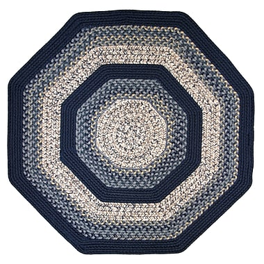 Thorndike Mills Beantown Charles River Tan/Blue Area Rug; Octagon 4'