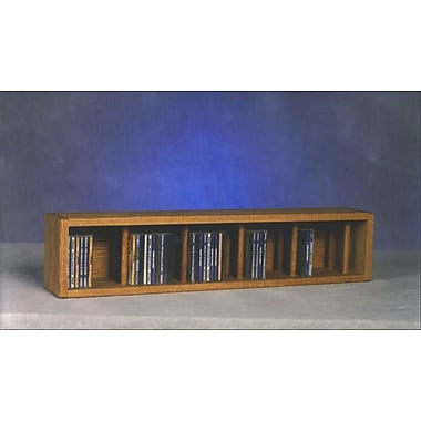 Wood Shed 100 Series 67 CD Multimedia Tabletop Storage Rack; Unfinished
