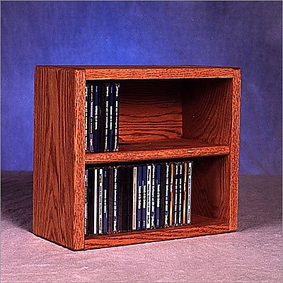 Wood Shed 200 Series 52 CD Multimedia Tabletop Storage Rack; Unfinished