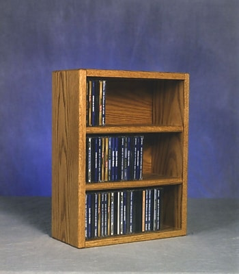 Wood Shed 300 Series 78 CD Multimedia Tabletop Storage Rack; Dark