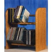 Wood Shed 200 Series 52 CD Dowel Multimedia Tabletop Storage Rack; Unfinished