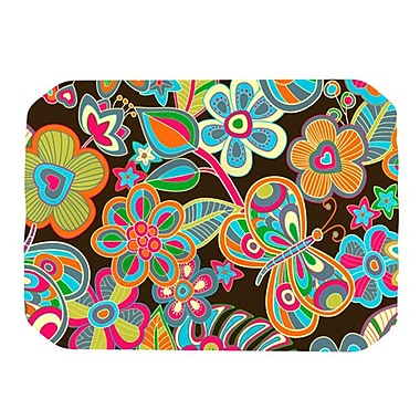 KESS InHouse My Butterflies and Flowers Placemat; Brown