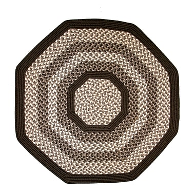 Thorndike Mills Green Mountain Fudge Brown Area Rug; Octagon 6'