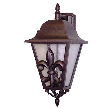 Melissa Americana 3-Light Outdoor Wall Lantern; Aged Silver