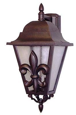 Melissa Americana 3-Light Outdoor Wall Lantern; Old Copper