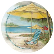 Thirstystone Beach Chair w/ Umbrella Occasions Coaster (Set of 4)