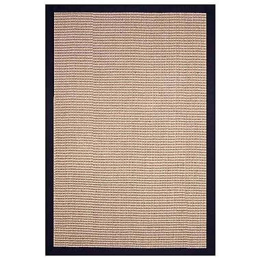 Acura Rugs Sisal Natural/Black Rug; Rectangle 9' x 12'